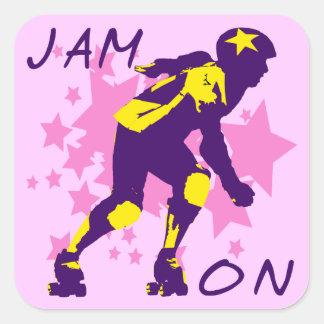 Jam On Square Sticker