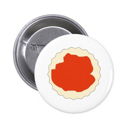 Jam Scone Graphic. 2 Inch Round Button