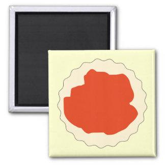 Jam Scone Graphic Refrigerator Magnet