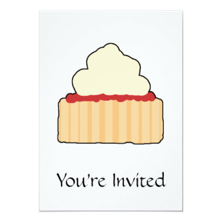 Jam Scone with Cream Topping. Card