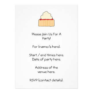 Jam Scone with Cream Topping. Invitations