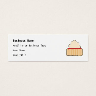 Jam Scone with Cream Topping. Mini Business Card