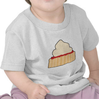 Jam Scone with Cream Topping. Tshirt