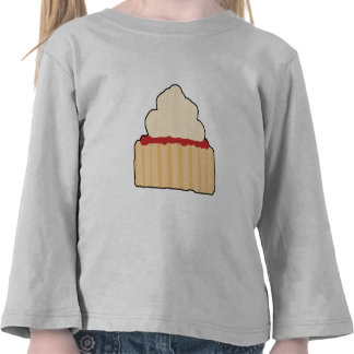 Jam Scone with Cream Topping. Tee Shirts