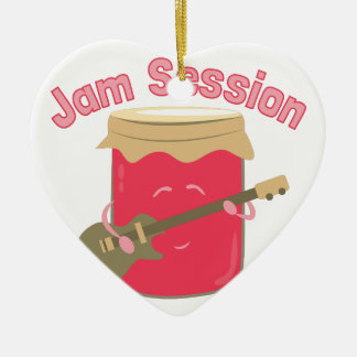 Jam Session Double-Sided Heart Ceramic Christmas Ornament