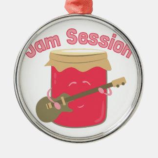 Jam Session Round Metal Christmas Ornament
