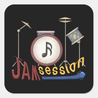 Jam Session Square Sticker