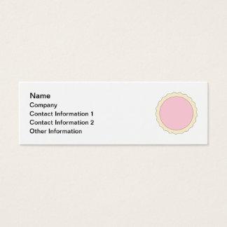 Jam Tart. Pale Pink. Mini Business Card
