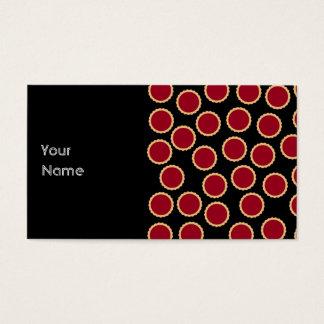 Jam Tart Pattern. Deep Raspberry Red. Business Card