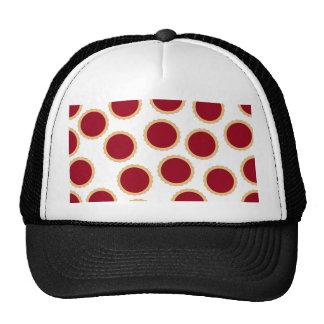 Jam Tart Pattern. Deep Raspberry Red. Trucker Hat