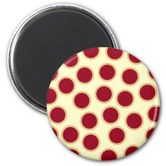 Jam Tart Pattern. Deep Raspberry Red. Magnet