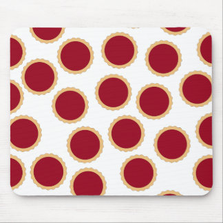 Jam Tart Pattern. Deep Raspberry Red. Mouse Pad