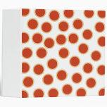 Jam Tart Pattern. Strawberry Red. Pies. 3 Ring Binder