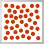 Jam Tart Pattern. Strawberry Red. Pies. Print
