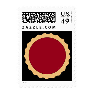 Jam Tart. Raspberry Red. Postage Stamps