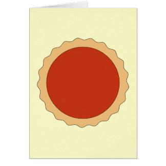 Jam Tart. Strawberry Red. Card