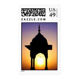 Jama Masjid franqueo de Delhi vieja la India