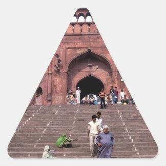 Jama Masjid in Delhi Triangle Stickers