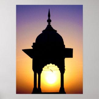 Jama Masjid, Old Delhi, India Poster