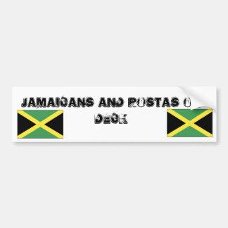 jamaica[1], jamaica[1], Jamaicans and Rostas on... Car Bumper Sticker