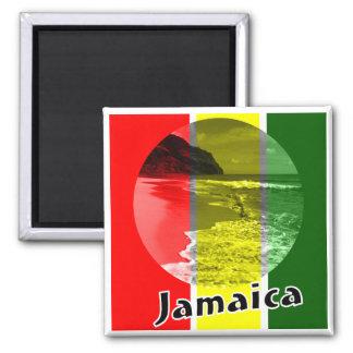 Jamaica 2 Inch Square Magnet