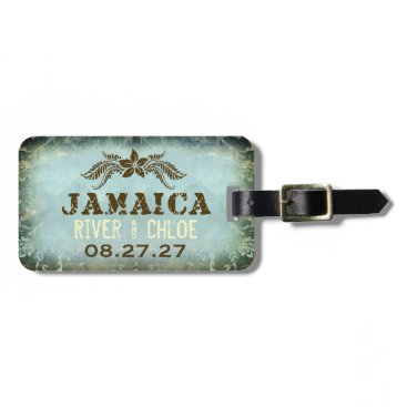 Beach Themed JAMAICA 2 Luggage Tag