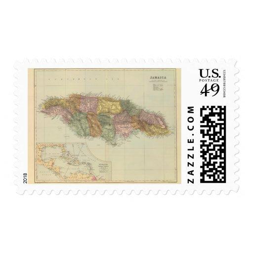 Jamaica 2 sello postal