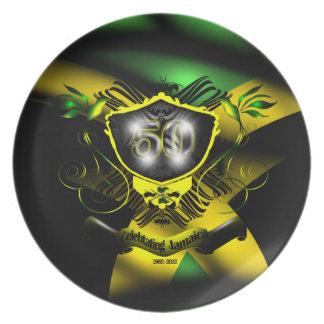 """""""Jamaica 50"""" placa de la celebración de la indepen Platos"""
