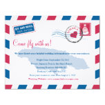 Jamaica Air Mail Wedding Travel Information 4.25x5.5 Paper Invitation Card