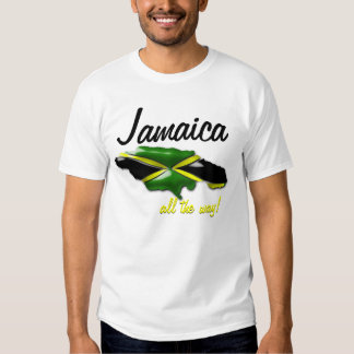 Jamaica All the Way Map of Jamaica T Shirt