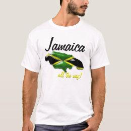 Jamaica All the Way Map of Jamaica T Shirt