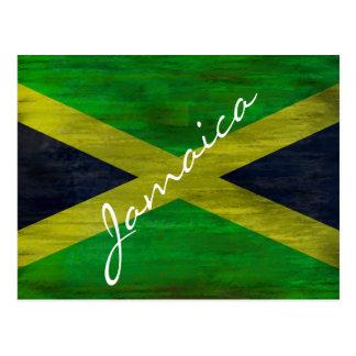 Jamaica apenó la bandera jamaicana tarjeta postal