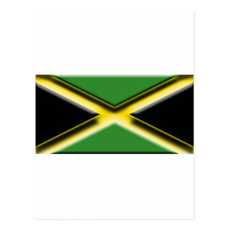 Jamaica (artist flag Yellow Highlight) Postcard