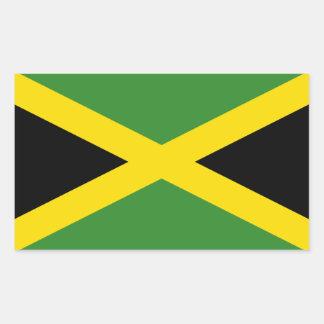 Jamaica/bandera jamaicana pegatina rectangular