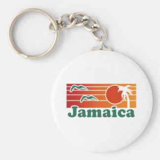 Jamaica Basic Round Button Keychain