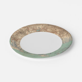 Jamaica Bay and Brooklyn Paper Plate