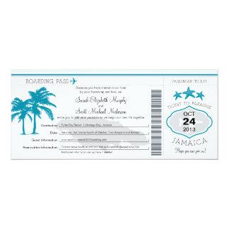 Jamaica Boarding Pass Wedding Card