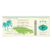 Jamaica Boarding Pass Wedding 4x9.25 Paper Invitation Card (<em>$3.15</em>)