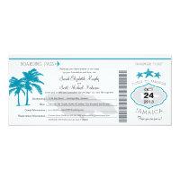 Jamaica Boarding Pass Wedding 4&quot; X 9.25&quot; Invitation Card (<em>$2.57</em>)