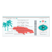 Jamaica Boarding Pass Wedding Invitation