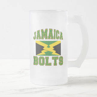 Jamaica Bolts Frosted Glass Beer Mug