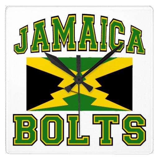 Jamaica Bolts Square Wallclock