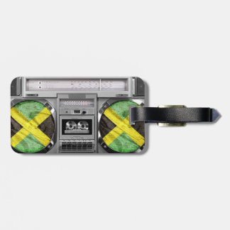 Jamaica boombox luggage tag