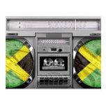 Jamaica boombox postcard