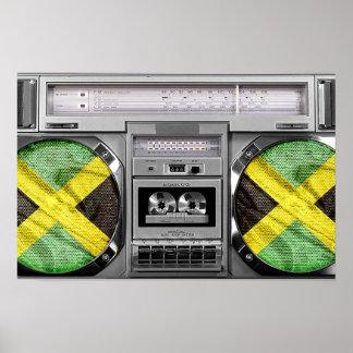 Jamaica boombox poster