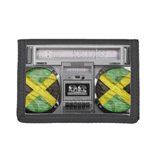 Jamaica boombox tri-fold wallet