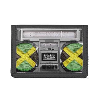 Jamaica boombox tri-fold wallet