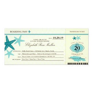 Jamaica Bridal Shower Boarding Pass Card