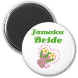 Jamaica Bride 2 Inch Round Magnet