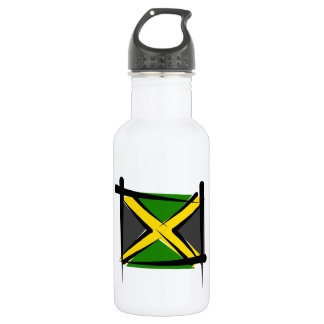 Jamaica Brush Flag 18oz Water Bottle